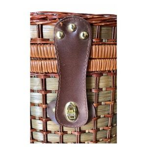 Vintage Accents - Vintage Wicker Bamboo Picnic Basket Fishing Creel